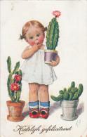 Feiertag Child With Cactus - Autres Illustrateurs