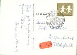 Michel #  281  EF  Auf Karte  Mit SST  Kölner Karnaval 1958  16.2.58 - Gebraucht