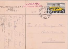 SUISSE  1937 CARTE DE LUGANO - Suisse