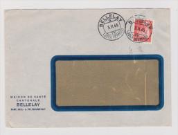 Schweiz Portofreiheit 1945-02-23 Bellelay Zu#16y Auf Brief Maison De Santé Bellelay - Franchise