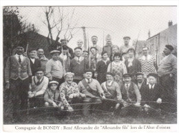 CPSM BONDY TIR A L ARC ? ARBALETE ? COMPAGNIE DE BONDY RENE ALEXANDRE DIT ALEXANDRE FILS LORS DE L A BAT D OISEAU 1931 - Tir à L'Arc