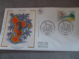 FDC  Mayotte - Paris 20/12/1991 - FDC
