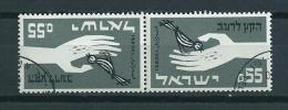1963 Israel Keerdruk,tete-beche Anti-honger Used/gebruikt/oblitere - Israel