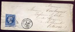 N°14  Sur Lettre  BERNAVILLE   Pour Ribemont   PC 372   M72 - 1849-1876: Periodo Classico