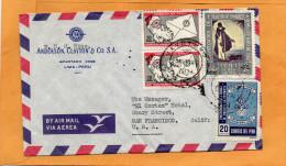 Peru Old Cover Mailed To USA - Pérou