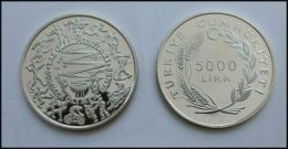 AC - 1984 LOS ANGELES USA SUMMER OLYMPIC GAMES COMMEMORATIVE SILVER COIN TURKEY 1984 PROOF UNCIRCULATED - Turkey