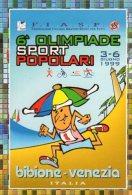 """ADESIVO - BIBIONE ( VE )"""" 6° OLlMPIADE  Sport  POPOLARI"""" - Atletica"""