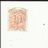 1 Timbre  10 Cts -Lion Heraldique_Perforé ( C  L )  Bon Etat 1953 - Lochung