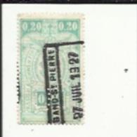 1 Timbre  5 Cts -Chemin De Fer-_Perforé ( C  F )  Bon Etat 1927 - Lochung