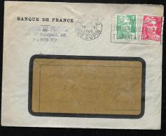 Lettre Affranchie Par Gandon 721 Et 807 Oblitere Paris 80 Rue Dupin En 1948 PMA0516 - 1945-54 Marianne De Gandon
