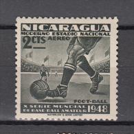 Nicaragua 1949 Mi Nr 998  Voetbal, Football  Postfris Met Plakker - Nicaragua