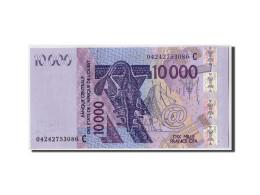 Etats De L'Afrique De L'Ouest,Burkina Faso,10,000 Francs,2003,non Daté,KM:318Cb, - Burkina Faso