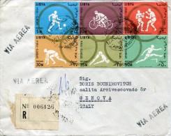 6323 Libya Cover Circuled 1965 To Italy (registered) - Libya