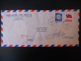 Taiwan Lettre Recommande De Taipei 1979 Pour Zurich - 1945-... République De Chine