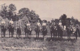 Horseback Riders At Camp Woodland Londonderry Vermont 1940 - Scouting