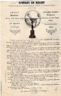 VP3476 - Document Commercial - Sphères En Relief - TURY Inventeur , GUILLEMIN Editeur à PARIS & DIJON Mr DELMOM - France