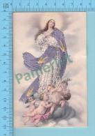 Image Brodéee ( Assomption De La Vierge Marie ) Image Pieuse Santini Holycard 2 Scans - Images Religieuses