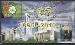 Turkmenistan 2010 Mi. Nr. 279-280, Bl.33 15th Aniv. Of Neutrality - Turkmenistan