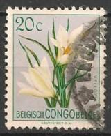 Timbres - Afrique - Congo Belge - 1952 - Série Des Fleurs - 20 C. - - Congo Belge