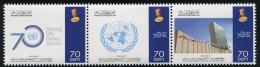 BRUNEI 2015 - 70e Ann De L'ONU - 3val Neufs // Mnh - Brunei (1984-...)