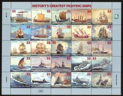 Marshall Islands - 1998 Warships Sheet MNH__(THB-2451) - Marshall