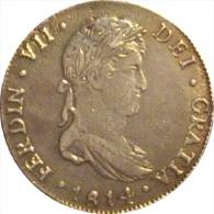 ESPAÑA. FERNANDO VII. 4 REALES 1.814 GUATEMALA. MUY RARA. ESPAGNE. SPAIN - Sin Clasificación