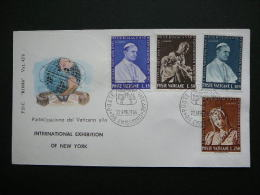 Vatican Vatikan FDC Cover 1964 # Art Michelangelo, Pieta, Pope Paul VI - FDC