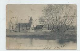 Montreuil (Eure-et-Loir)  : L´église Prise Des Bords De L´Eure En 1904 PF. - Frankreich
