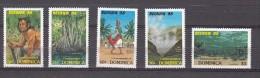 Dominica 1988 Mi Nr  1086, 1088, 1089, 1090, 1091 Toerisme Reunion 88 ( 1 Zegel Ontbreekt) - Dominica (1978-...)