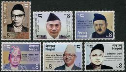 NEPAL 2015 - Personnages Celèbres Du Népal - 6 Val Neuf // Mnh - Népal