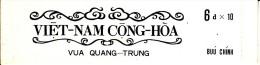 Vietnam, South Booklet Scott #411a Pane Of 10 6pi King Quang Trung - Unexploded - Viêt-Nam
