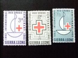 SIERRA LEONE 1963 Yvert Nº 240 / 42 ** MNH CENT. CRUZ ROJA - Sierra Leone (1961-...)