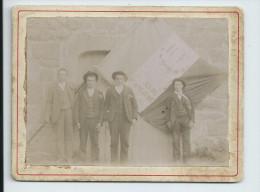 Ardèche.Photo Des Conscrits De Saint Jeure D'Andaure:format 9.5cm X 12.5cm - Krieg, Militär