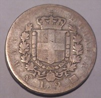 Italy 2 Lire 1863 N - 1861-1946 : Royaume