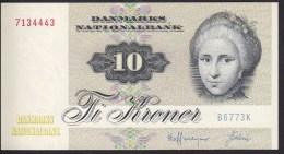 Denmark 10 Kronur 1977 P48g Sign 2 UNC - Denmark