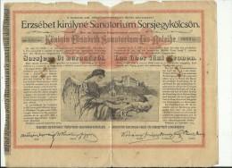 AUSTRIA - HUNGARY   --  KONIGIN ELISABETH SANATORIUM LOS - ANLEIHE  --  FUR LUNGENKRANKHE  --  TUBERCULOSE  --  1904 - Ohne Zuordnung