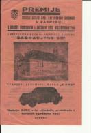CROATIA   --  LOTTERIE  --  HRVATSKA VATROGASNA ZAJEDNICA    --  1938  --  POMPIERS, FEUERWEHR, FIREMAN - Lotterielose