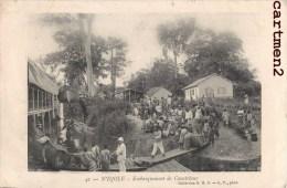 N'DJOLE EMBARQUEMENT DE CAOUTCHOUC GABON AFRIQUE - Gabon