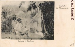 SALUDO DE VENEZUELA HACIENDO EL CHINCHORRO FABRICATION DE HAMAC 1900 - Venezuela