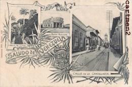 SALUDO DE VENEZUELA CARACAS CALLE DE LA CANDELARIA TEATRO JARDIN DE LA CASA PARICULAR GRUSS 1900 - Venezuela