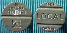 03084 GETTONE TOKEN JETON BRAZIL TELEPHONE TOKEN SISTEMA TELBRAS LOCAL 1983 - Jetons En Medailles