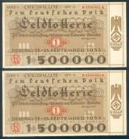 """Deutschland, Germany - """" Dem Deutschen Volk """", 2 X GELDLOTTERIE, FOTO & DOKUMENT Der NSDAP, 1933 ! - 1933-1945: Drittes Reich"""