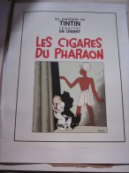 Siebdruck, Zeefdruk Sérigrahie TINTIN Les Cigares Du Pharaon 1995 2000 Ex. - Serigraphien & Lithographien