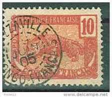OBLITERATION BRAZZAVILLE (CONGO FRANCAIS) 19.06.1905 MICHEL CONGO FRANCAIS 34 LEOPARD - Congo Français (1891-1960)