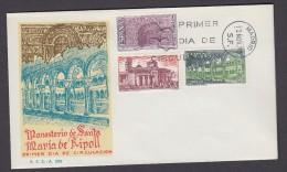 ESPAÑA 1970 SOBRE PRIMER DIA. MONASTERIO DE RIPOLL - 1931-Aujourd'hui: II. République - ....Juan Carlos I