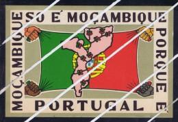 Mozambique SÓ É Moçambique Porque É Portugal Maps Flags 1966 Used Postcard 6017 - Unclassified