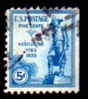 USA 1933, Scott #734, General Tadeusz Kosciuszko, Used, LH, F/VF - Usati