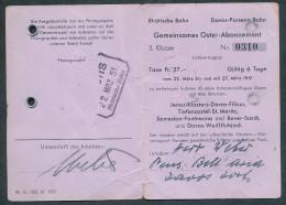 AR251 RhB DPB 3rd Cl Gemeinsames Oster Abonnement 1951 - Chemins De Fer