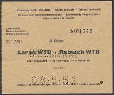 AR200 3kl Aarau WTB - Reinach WTB 1951 - Chemins De Fer