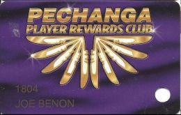 Pechanga Casino Calif - PRINTED Slot Card - 31mm Wide PPC Above Mag Stripe - Casino Cards